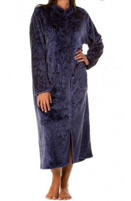 DRESSING GOWN - LIGHT NAVY - plus size