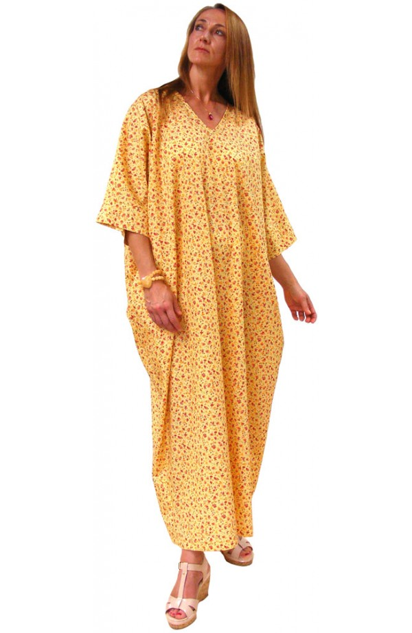 COTTON KAFTAN - SUNSHINE