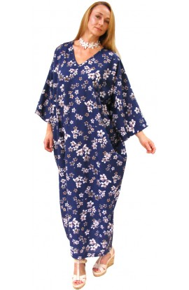 COTTON KAFTAN - NAVY CANADA