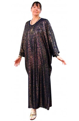 NAVY AND GOLD EVENING KAFTAN - LIMITED AVAILABILITY