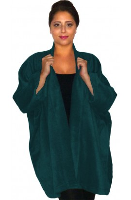 FLEECE JACKET -  TEAL-BLUE