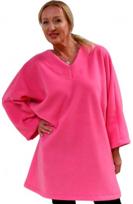 FLEECE TOP - WARM ROSE