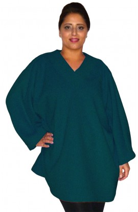 Fleece Top - Teal Blue