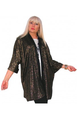SPECIAL OCCASION JACKET - BLACK AND GOLD