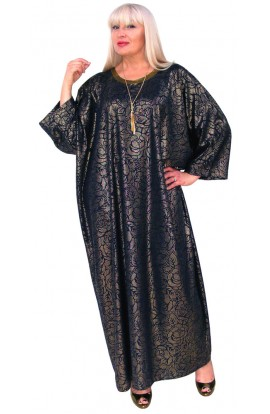 NAVY AND GOLD KAFTAN  - EVENING, HOLIDAY, CRUISES   SPECIAL OCCASIONS