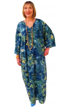 BLUE ROMANTIC JERSEY KAFTAN - Limited availability