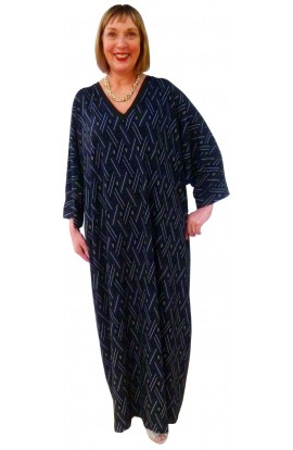 NAVY DIAMONDS KAFTAN - for men or women