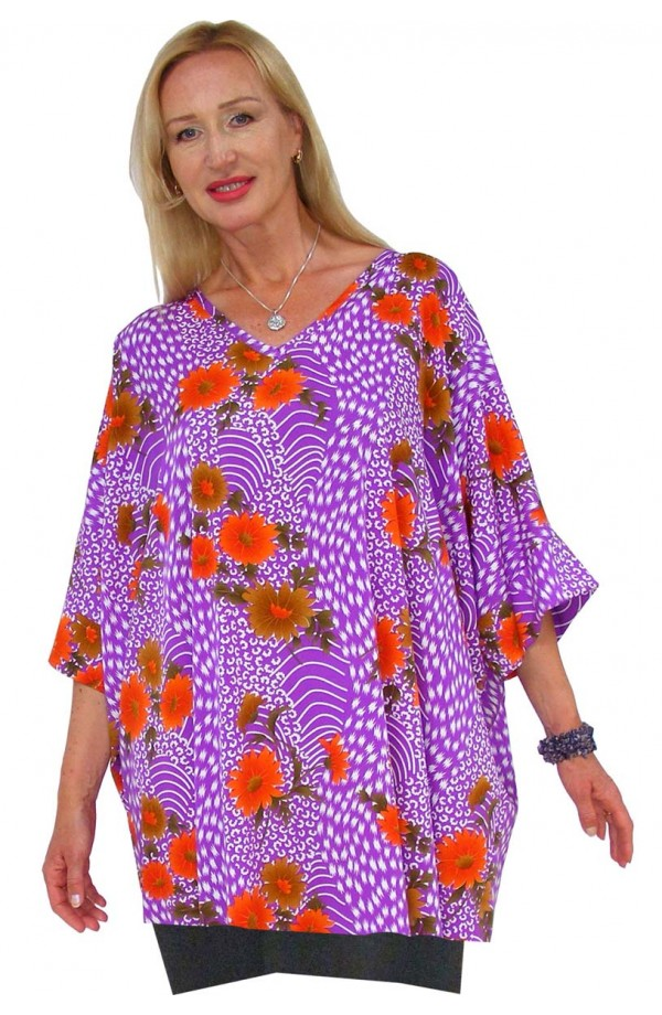 TOP - SHORT KAFTAN - BOMBAY LILAC
