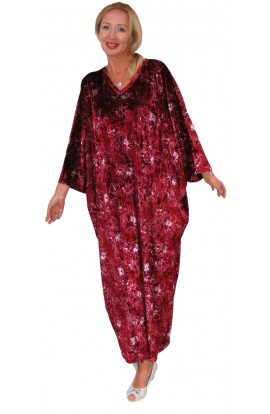 VELOUR KAFTAN - RICH RUBY
