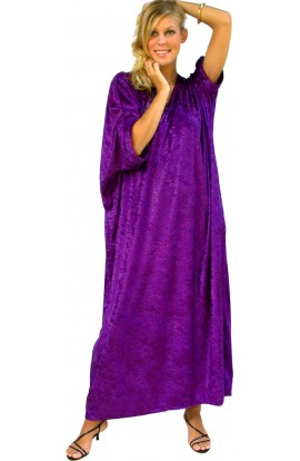 Knitted Velour Kaftan - Cadbury