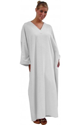 TOWELLING KAFTAN - in WHITE, PINK or SILVER