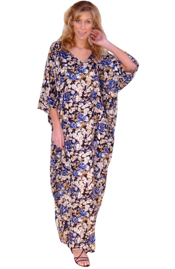 NAVY AND FAWN KAFTAN
