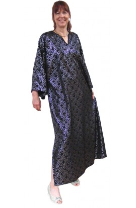 BLACK AND SILVER SMART KAFTAN - one only