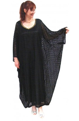 BLACK LACE EVENING KAFTAN