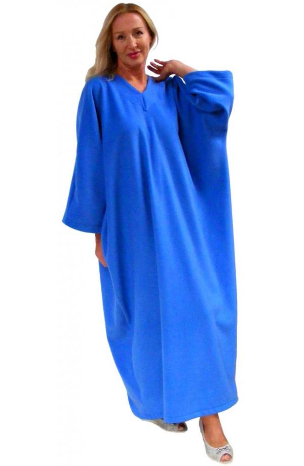 FLEECE KAFTAN - CORNFLOWER BLUE