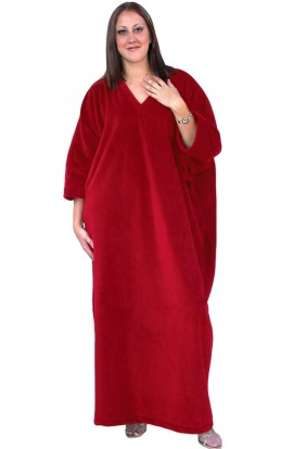 FLEECE KAFTAN - Berry-wine