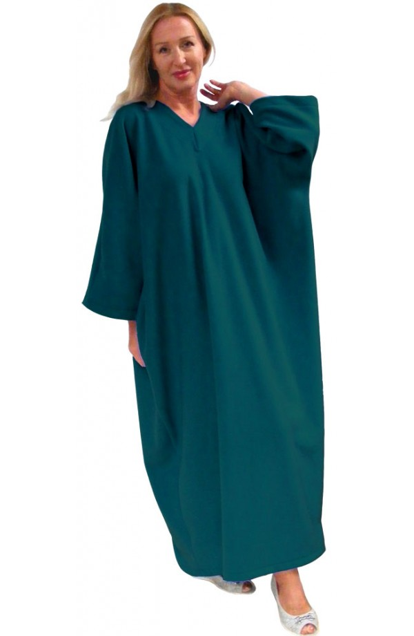 FLEECE KAFTAN - TEAL BLUE