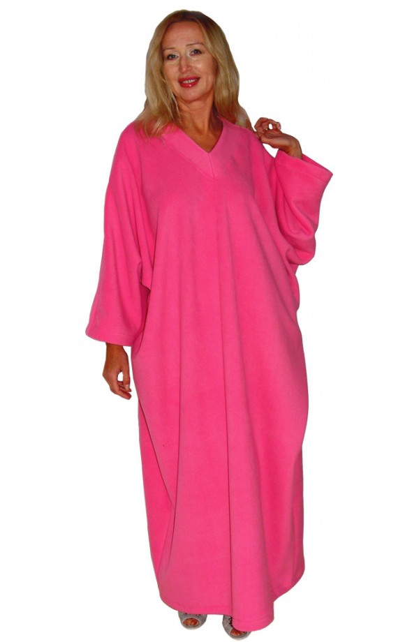 FLEECE KAFTAN - WARM ROSE