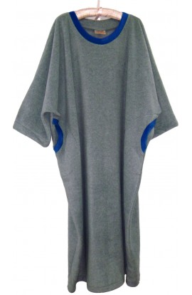 Fleece Kaftan  - Two-tone - Silver and Blue