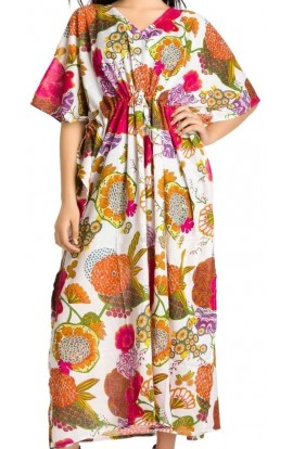 COTTON KAFTAN- WHITE DESIGN
