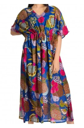 COTTON KAFTAN- ROYAL BLUE
