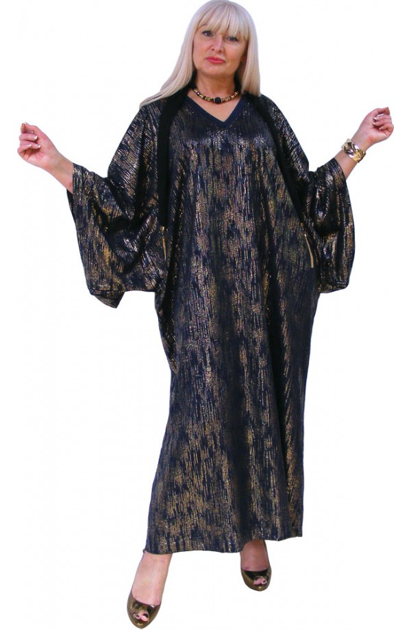 NAVY AND GOLD EVENING KAFTAN  - RAINFALL DESIGN