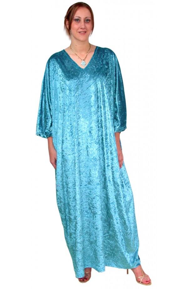 Knitted Velour Kaftan - TOPAZ