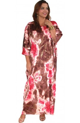 TIE-DYED VELOUR KAFTAN - further reduction
